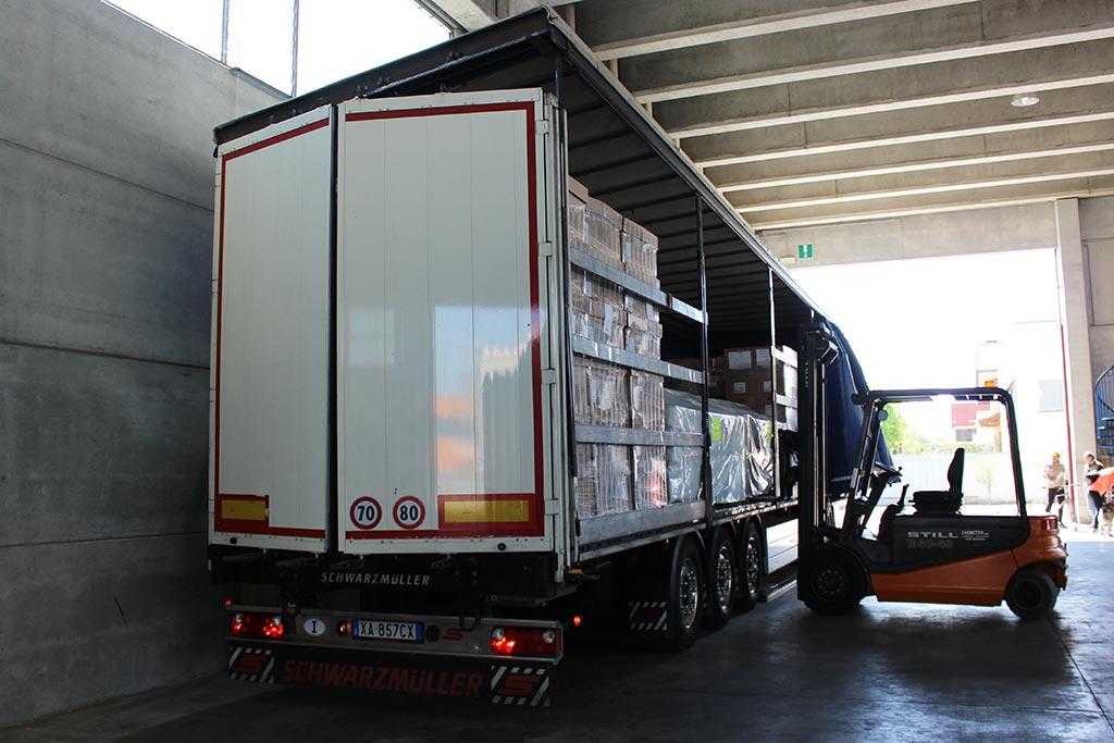 camion trasportatore rialzato